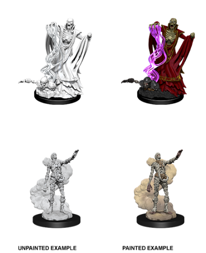 Lich & Mummy Lord: D&D Nolzur's Marvelous Unpainted Miniatures